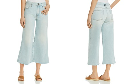 FRAME Le Palazzo Cropped Wide-Leg Jeans in Taplow - Bloomingdale's_2