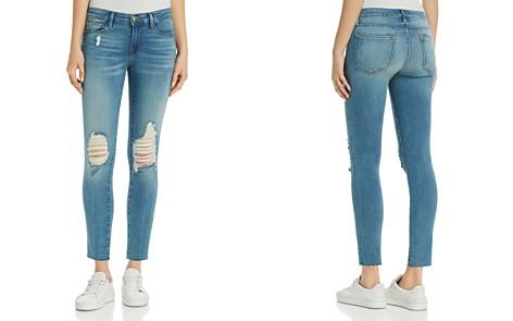 FRAME Le Skinny De Jeanne Distressed Skinny Jeans in Stanwell - Bloomingdale's_2