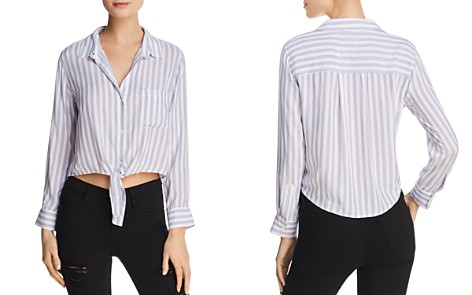 Rails Val Cropped Stripe Blouse - Bloomingdale's_2