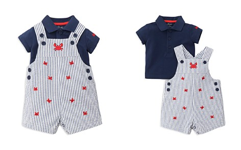 Little Me Boys' Polo Shirt & Embroidered Crab Overalls Set - Baby - Bloomingdale's_2