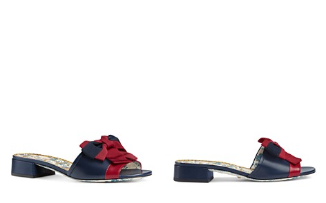 Gucci Women's Sackville Leather Bow Slide Sandals - Bloomingdale's_2
