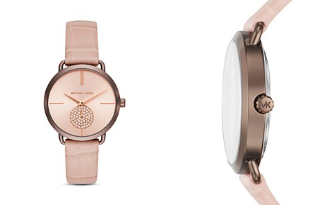 Michael Kors Portia Crocodile-Embossed Leather Strap Watch 37mm - Bloomingdale's_2