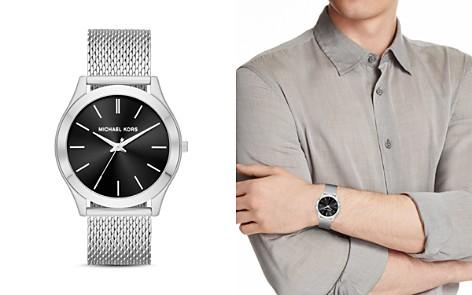 Michael Kors Silver-Tone Slim Runway Watch, 44mm x 49mm - Bloomingdale's_2