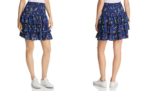 Maje Jalao Tiered Ruffled Floral Skirt - 100% Exclusive - Bloomingdale's_2