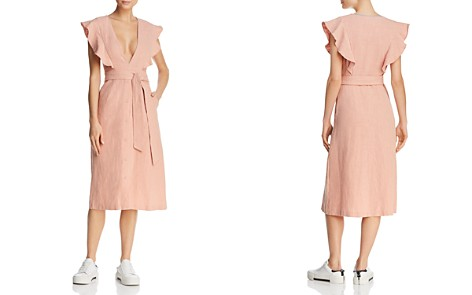 Saylor Plunging Linen Dress - Bloomingdale's_2