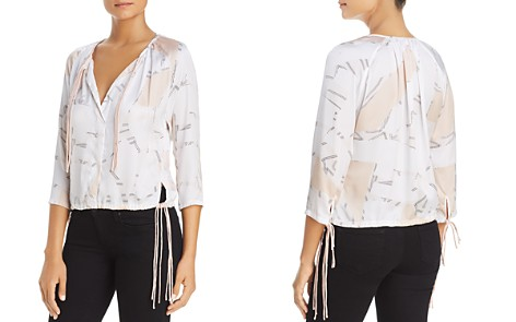 Kenneth Cole Floating Shapes Tripe Tie Blouse - Bloomingdale's_2