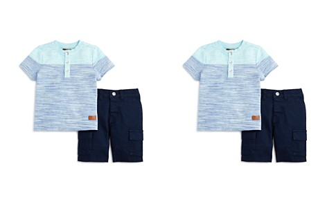7 For All Mankind Boys' Striped Tee & Cargo Shorts Set - Baby - Bloomingdale's_2