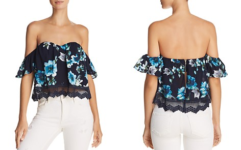 Cotton Candy LA Floral Off-the-Shoulder Cropped Top - 100% Exclusive - Bloomingdale's_2