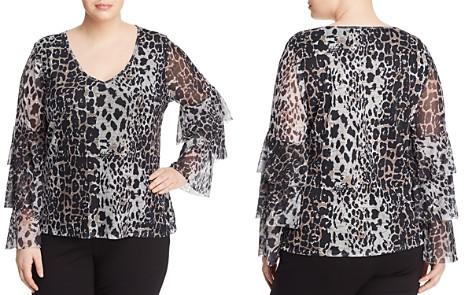 Love Scarlett Plus Leopard-Print Tiered Bell-Sleeve Top - Bloomingdale's_2