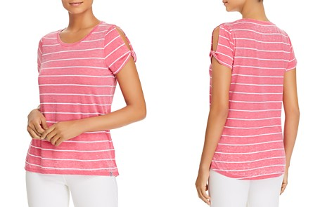 Marc New York Performance Striped Cold-Shoulder Twist Tee - Bloomingdale's_2