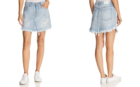 Pistola Distressed Denim Skirt - 100% Exclusive - Bloomingdale's_2