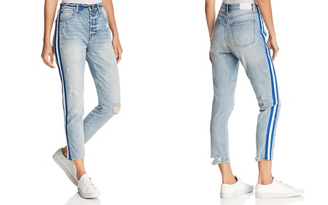 Pistola Nico Striped Distressed Straight-Leg Jeans in Walk The Line - Bloomingdale's_2