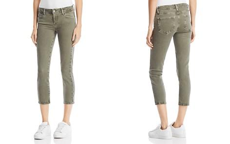 PAIGE Skyline Skinny Crop Jeans in Faded Laurel Green - Bloomingdale's_2