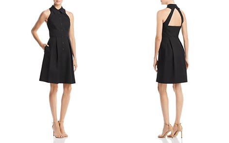 Adrianna Papell Cutout-Back Fit-and-Flare Dress - Bloomingdale's_2