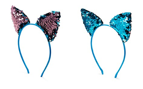 Capelli Girls' Cat Ears Headband with Reversible Sequins - Bloomingdale's_2