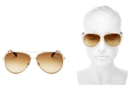 Longchamp Women's Roseau Family Brow Bar Aviator Sunglasses, 55mm - Bloomingdale's_2