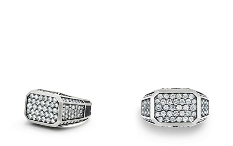 David Yurman Exotic Stone Streamline Pavé Signet Ring with Gray Sapphire - Bloomingdale's_2