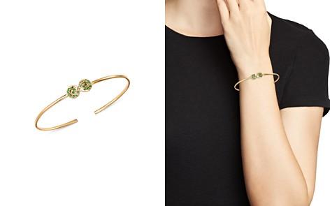 SheBee 14K Yellow Gold Tsavorite & Green Sapphire Figure 8 Cuff Bracelet - Bloomingdale's_2