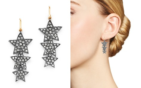 SheBee 14K Yellow Gold & Diamond Triple Star Drop Earrings - Bloomingdale's_2