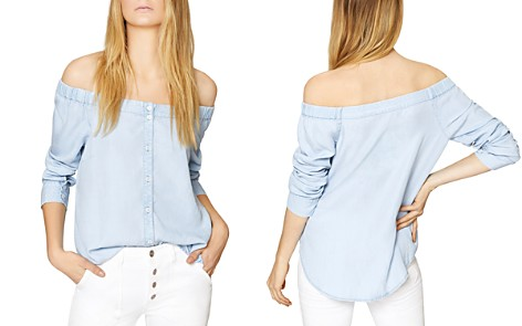 Sanctuary Off-the-Shoulder Chambray Shirt - Bloomingdale's_2