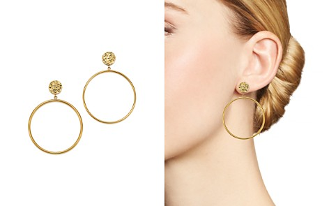 Bloomingdale's Double Circle Drop Earrings in 14K Yellow Gold - 100% Exclusive _2