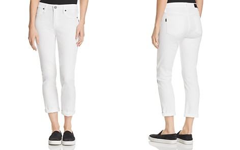 Parker Smith Courtney Cuffed Crop Skinny Jeans in Eternal White - Bloomingdale's_2