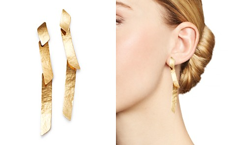 Moon & Meadow Hammered Ribbon Earrings in 14K Yellow Gold - 100% Exclusive - Bloomingdale's_2