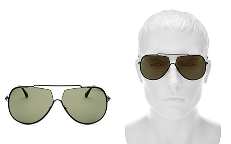 Tom Ford Chase Brow Bar Aviator Sunglasses, 69mm - Bloomingdale's_2