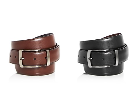 The Men's Store at Bloomingdale's Reversible Burnished Edge Buckle Leather Belt - 100% Exclusive_2