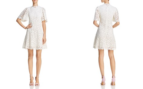 Rebecca Taylor Mock Neck Lace Dress - Bloomingdale's_2
