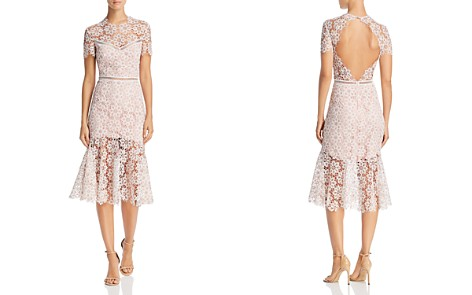 Saylor Illusion Lace Midi Dress - Bloomingdale's_2