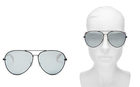 rag & bone Women's 1006 Mirrored Aviator Sunglasses, 63mm - Bloomingdale's_2