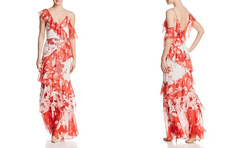 Alice + Olivia Olympia Asymmetric Ruffled Silk Maxi Dress - Bloomingdale's_2
