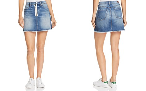 BLANKNYC Zip Detail Frayed Denim Skirt - 100% Exclusive - Bloomingdale's_2