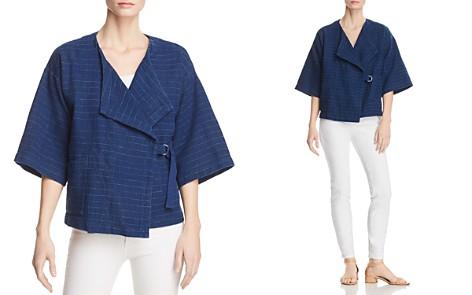 Eileen Fisher Striped Cotton & Linen Kimono Jacket - Bloomingdale's_2
