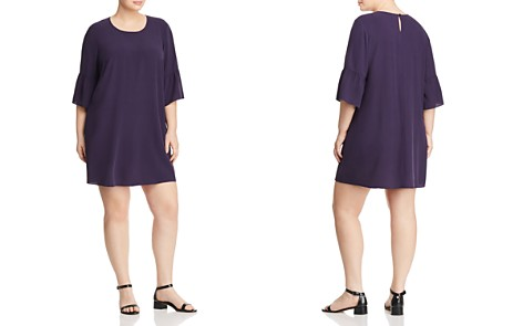 Eileen Fisher Plus Bell Sleeve Silk Dress - Bloomingdale's_2