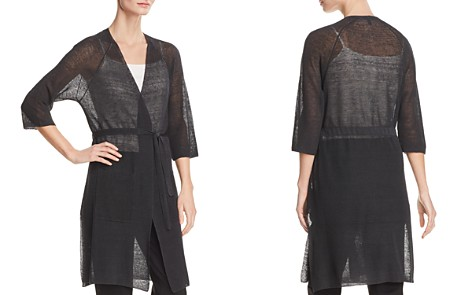 Eileen Fisher Petites Kimono-Style Sheer Long Cardigan - Bloomingdale's_2