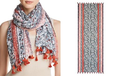 Rebecca Minkoff Jasmine Floral Print Tassel Oblong Scarf - Bloomingdale's_2