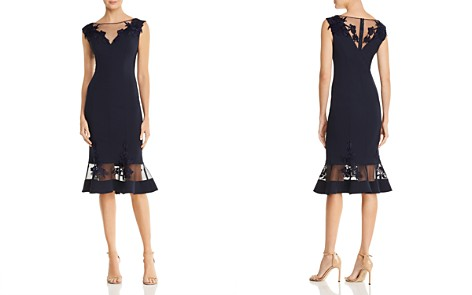Aidan Mattox Illusion Scuba Crepe Dress - Bloomingdale's_2