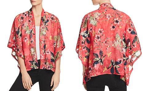 Cupio Embroidered Floral-Print Kimono - Bloomingdale's_2