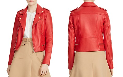 Maje Basalt Leather Motorcycle Jacket - Bloomingdale's_2