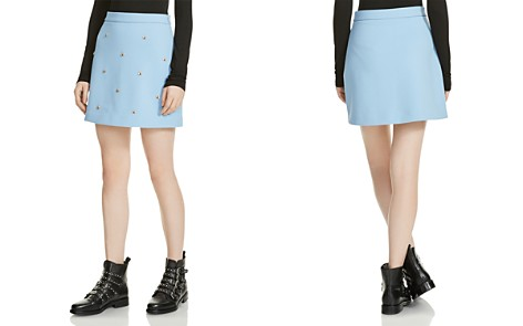 Maje Metal-Bee-Embellished Mini Skirt - Bloomingdale's_2