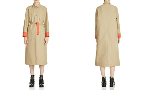 Maje Gemma Contrast-Trim Trench Coat - Bloomingdale's_2