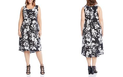 Karen Kane Plus Floral Midi Dress - Bloomingdale's_2
