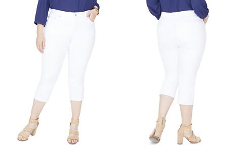 NYDJ Plus Capri Released Hem Skinny Jeans in Optic White - Bloomingdale's_2