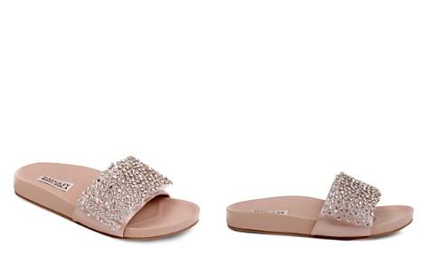 Badgley Mischka Horton Embellished Satin Slide Sandals - Bloomingdale's_2