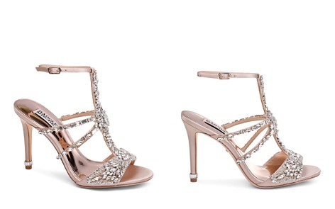 Badgley Mischka Women's Hughes Embellished Satin T-Strap High-Heel Sandals - Bloomingdale's_2