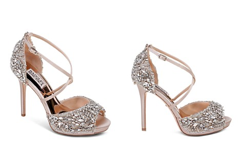 Badgley Mischka Women's Hyper Embellished Satin Platform High Heel Sandals - Bloomingdale's_2