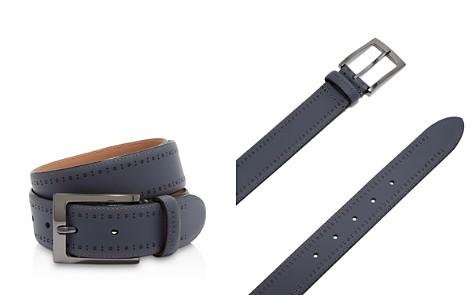 Ted Baker Havan Rubber Leather Brogue Belt - Bloomingdale's_2