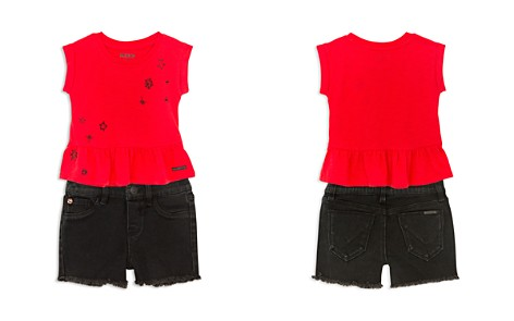 Hudson Girls' Embroidered Tank & Frayed Shorts Set - Little Kid - Bloomingdale's_2